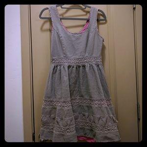 Jessica Simpson Brown Pink Cocktail Dress, sz 10